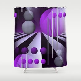 3D - abstraction -93- Shower Curtain