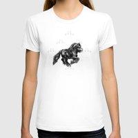 damask T-shirts featuring Damask Friesian by GumiPoni