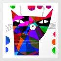 MOSAIC CAT by terryrunyan