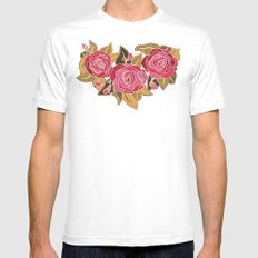 With The Roses MEDIUM White Mens Fitted Tee