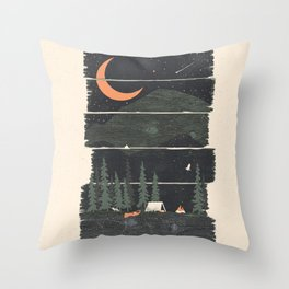 Wish I Was Camping... Throw Pillow