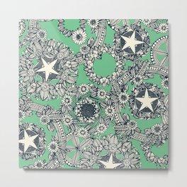 cirque fleur green Metal Print