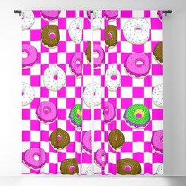 A King Cake Donut Blackout Curtain