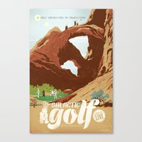 Galactic Golf - Retro travel poster Canvas Print