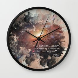 Do Not Feel Lonely Wall Clock