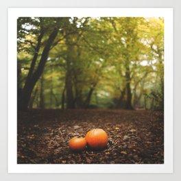 Family Pumpkin Art Print