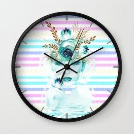 Frosen Past Memories Colorful Winter Wall Clock