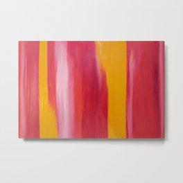 """Magenta-orange"" Original oil finger painting by Monika Toth Metal Print"