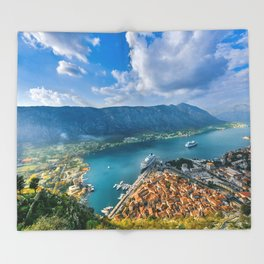 The Bay of Kotor Throw Blanket