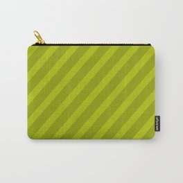 Green Diagonal Stripes Carry-All Pouch