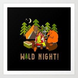 Camping Wild Night Art Print