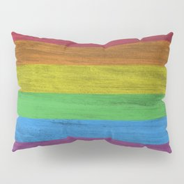 Wooden Texture Rainbow Pillow Sham