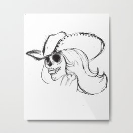 Day of the Dead Cowgirl Metal Print