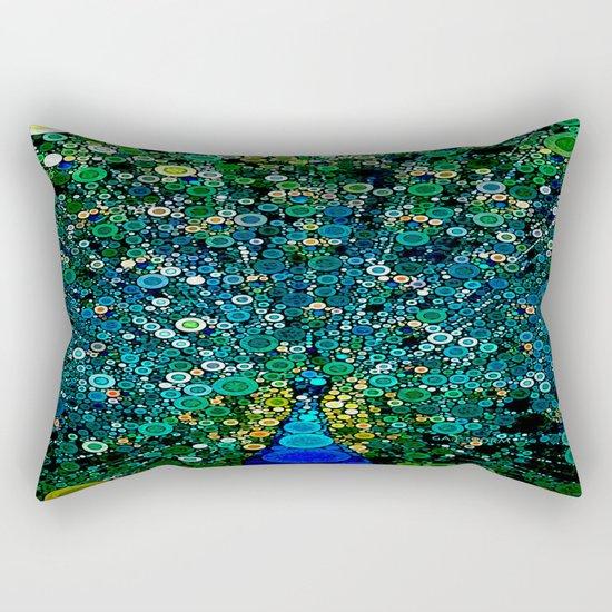 :: Peacock Caper :: Rectangular Pillow