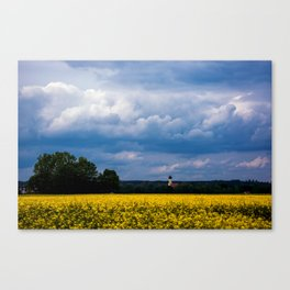Concept nature : The yellow field Canvas Print