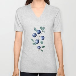 Blackthorn Blue Berries Unisex V-Neck