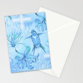 Colibri Flor Damask Stationery Cards
