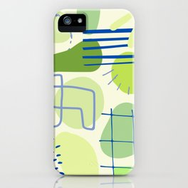 Suburbia from Above - Abstract Postmodern Retro Pattern iPhone Case