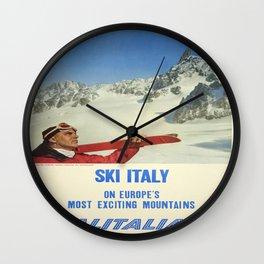 Vintage poster - Ski Italy Wall Clock