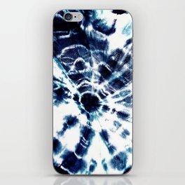 Tie Dye Sunburst Blue iPhone Skin