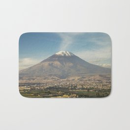 City of Arequipa in Peru with its iconic volcano Misti Bath Mat