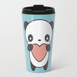 Kawaii Cute Panda With A Heart Travel Mug