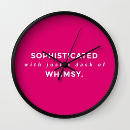 Sophisticated Whimsy Wall Clock