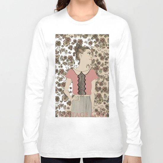 Vintage Girl Long Sleeve T-shirt