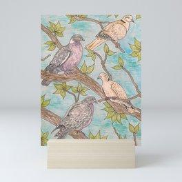 Various Pigeons Mini Art Print