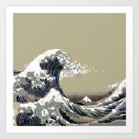 hokusai Art Prints featuring Hokusai by noirlac