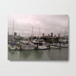 Boats at the Docks Metal Print