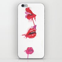 lips iPhone & iPod Skins featuring lips by jgart