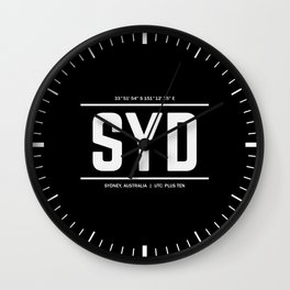 Sydney Time Wall Clock