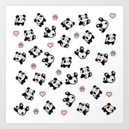 Panda pattern Kunstdrucke