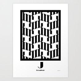 LETTERNS - J - Broadway Art Print