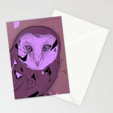 PURPLE OWL Stationery Cards