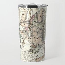 Constellations Hercules, Lyra, Corona Borealis, Celestial Atlas Plate 8, Alexander Jamieson Travel Mug
