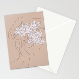 Abstract woman Stationery Cards