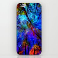 bedding iPhone & iPod Skins featuring Colorful forest by haroulita