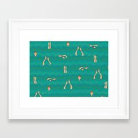 swimming Framed Art Prints featuring Swimming by Mimi