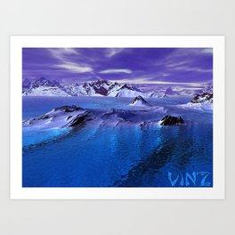« Antarctique » Art Print