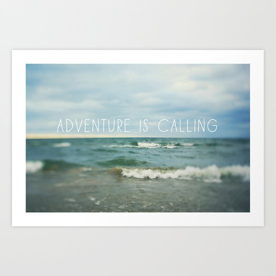 Adventure is Calling - Waves Art Print