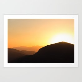 Sunset on Telluride Art Print