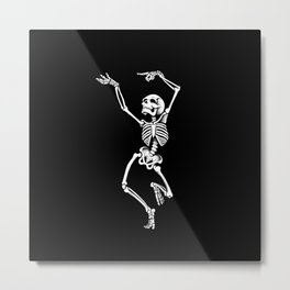 Dancing Skelleton Metal Print