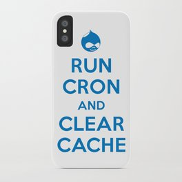 Run Cron and Clear Cache iPhone Case