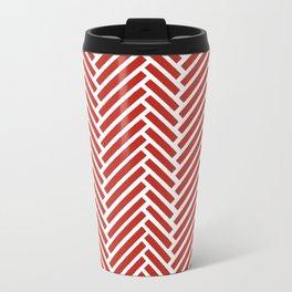 Herringbone Candy Metal Travel Mug