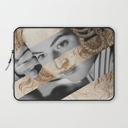 Leonardo Da Vinci's Head of Leda & Ingrid Bergman Laptop Sleeve