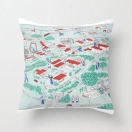 EMORY University map ATLANTA GEORGIA Throw Pillow