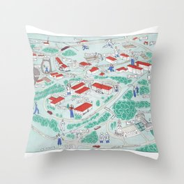 EMORY University map ATLANTA GEORGIA Throw Pillow