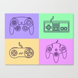 Nintendo Gaming Controllers - Retro Style! Canvas Print